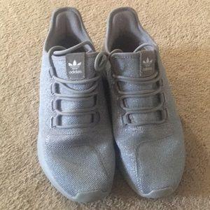 Gray Adidas tubulars